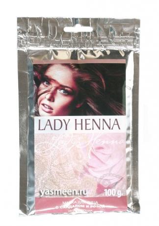 Увлажняющая маска для лица с сандалом и розой Lady Henna, 100 гр