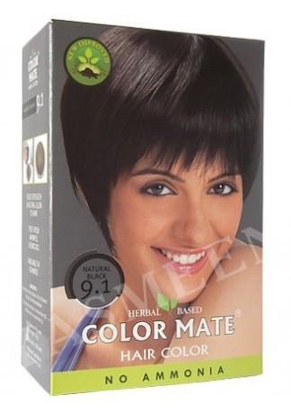 Натуральная краска для волос Color Mate (тон 9.1, черный)